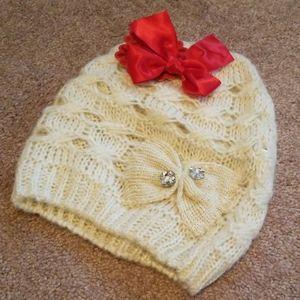 Ivory knit hat